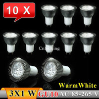 Wholesale 10pcs GU10 W LED Spot Light Warm white High Brightness V