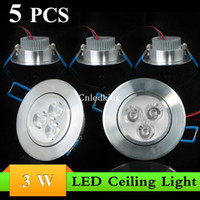 Wholesale 5pcs W Recessed High Bright LED Ceiling Down Light White Warm Light Energy Saving