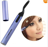 Wholesale Electric eyelash curler roll foldable heated eyelash curler eye lashes Pen style touchbeautiful tool Good quality XMAS