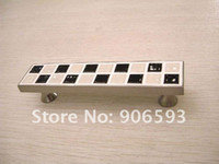 Black and white mosaic black cabinet - 12pcs Black and white mosaic porcelain cabinet handle furniture handle drawer pull