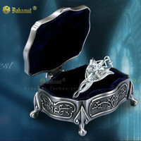 Movie crystal jewelry box - 925 Sterling Silver Lord of the Rings Arwen Evenstar Necklace and Jewelry Box Holder Set
