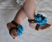 Buckle Strap baby thong sandals - Crochet baby girl shoes sandals flower button thongs M pairs cotton yarn custom