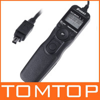 Wholesale LCD Timer Remote Cord Shutter Release For Nikon D80 retail amp Free drop shipping D566