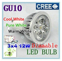 Wholesale GU10 E27 MR16 dimmable V X3W W W LED Bulb Light Spotlight Downlight replace W