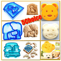 Wholesale Sandwich Cutter Bear Car Dog Dolphin Elephant Shape Cake Bread Toast Mold Mould
