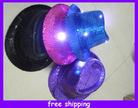 l.e.d. - Sequin L E D Fedora Wedding New Years Eve Birthday Christmas Party Light up Hat