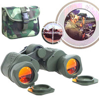 Wholesale 50 x Green Coated Telescope Binoculars with Neck Strap Lens Cloth for Backpacking Hiking Climbi