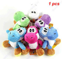 Wholesale New Super Mario Bros Yoshi Plush Doll Soft Toy Keychain Decoration Pendant