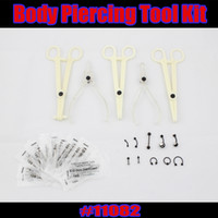 belly piercing tools - Tattoo Supply Sterile Disposable Body Piercing Tools Kits needle Belly Eyebrow Lip Ring jewelry