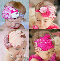 Wholesale 2013 colorful feather hairband diamond fashion children hair band headdress hair ornament Y DEC193