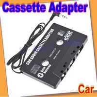Wholesale NEW CAR CASSETTE TAPE ADAPTER FOR MP3 MP4 IPOD NANO CD PLAYER MD