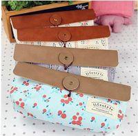 Wholesale New style Flower pencil box School pencil bag Fashion Pencil pouch Designs or Retail Fre
