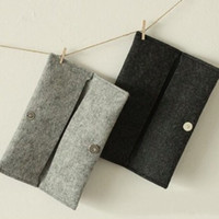 Pencils China (Mainland) Schools & Offices Freeshipping! NEW Minimalism pen bag woollen felt pouch Pencil Bag Pencil Case Glasses case Fashion