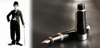 Wholesale Metal pen Duke Charlie Chaplin medium nib fountain pen without matched box