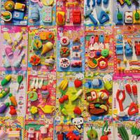 Wholesale New Cute Simulation Fruit Eraser Designs Office Rubber Eraser Gift set