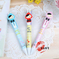 Highlighters ballpoint pen refills short - Min Order mixed order Stationery girl short design ballpoint pen FN