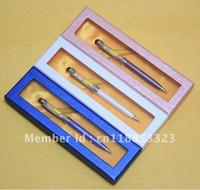 Wholesale Promotion Christmas Gift Luxury Swarovski Crystal Ballpoint Pen In A Box