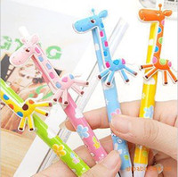 Wholesale korean stationery animal promotional gift pens with clip high quality