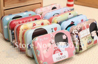 Wholesale Fancy cute Jane TK girl tin pencil box pencil case bag cm cm