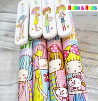 Ballpoint Pen ink ribbon - New cute Cartoon ribbon girl gel ink pen amp ball pen Fashion Style Promotion Whol