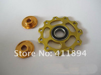 Wholesale On slae Super Material Bearing Sealed Derailleur Jockey Pulley Wheel T Gold