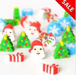 Wholesale Korea stationery cute Christmas old man series rubber eraser set Gift box Pack Packs C