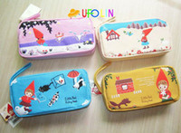 Wholesale New kawaii little red girl big fabric pencil bag pencil pouch pen bag cotton bag
