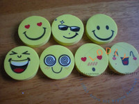 Wholesale happy face standard pencil eraser r12002 office school stationery new supplies funny rubber