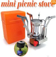 Wholesale Mini Picnic Stove Foldable Outdoor Gas Burner Steel BBQ Camping Case