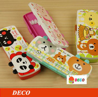 Wholesale Plastic stories pencil case Cute pen bag Pencil box Lovely stationery Free shipp