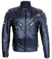Wholesale dainese Motorcycle PU leather Jacket with Padding MJdainese005 Black