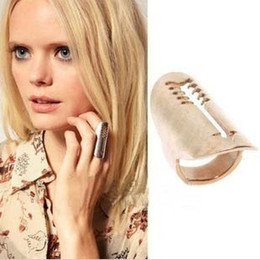 Pop Star Hot Sale Fashion Jewelry Vintage Tube Shape Finger RING European Metal Rings Large Head