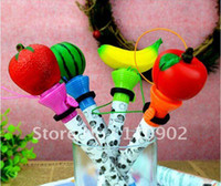 Wholesale Fruit shape Ball point pen Boxing bounce tricky funny funny peculiar gift toy creativi