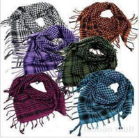 arab scarf - Hot Unisex Checkered Arab Shemagh Grid Neck Scarf Wrap