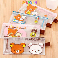 Wholesale New kawaii rilakkuma pvc pouch pencil pouch pouch coin purse pencil bag