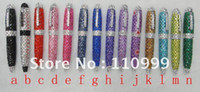 Wholesale Hot Sale Handmade crystal rhinestone pen crystal bling ball pen Colors Ch