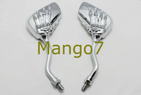 Wholesale Motorcycle Mirror Chrome Motorcycle Skull Mirror MM For Harley Softail Dyna