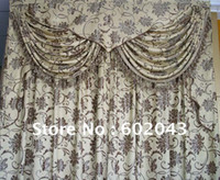 Wholesale quality Fabric Lining Valance Fringe jacquard completed curtain