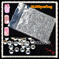 Black hot-fix for rhinestone - Free Shippiing mm Glitter Clear Hot Fix Nail Art Rhinestone For Nail Decoration