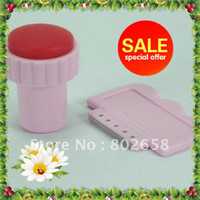 Wholesale AG303 sets DIY Nail Art Stamping Stainless Steel scraper and stamp