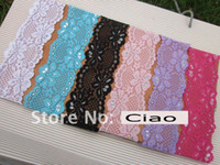 Wholesale 2 quot fashion baby lace headband soft material baby headbands mix color