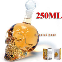 Glass glass decanter - Crystal Skull Head Vodka Whiskey Shot Glass Bottle Drinking Home Bar Decanter