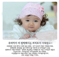 Wholesale 2013 Korean children headdress super cute hair ornaments Bunny Princess hair band lace wig DEC202