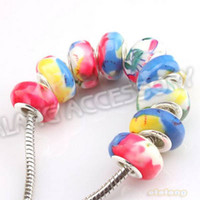 Wholesale On Promotion Carved Flowers Round Shape Colorful Acrylic Beads Fit Bracelet amp Jewelry Making