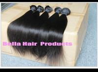 Wholesale Unprocessed quot quot Min Indian Virgin Remy Hair Weft Natural Color Weave Straight g pc