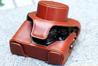 Wholesale New Arrival Leather Camera Bag Case For Fujifilm FUJI Finepix X10 LC X10 Brown