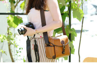 Wholesale Retro leather Camera shoulder bag camera bag