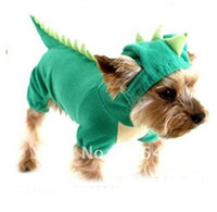 Wholesale Christmas halloween dinosaur design Pet clothes winter items dog coats clothing rept