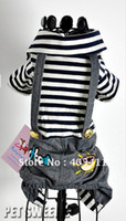 Wholesale dog Lovers clothes dog apparel stripe pet clothing Winter Four legs small dog cat h