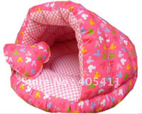 Wholesale High quality Pet Beds soft warm dog sofa Pet Nest luxury Dog nest warm round beds Sleeping bags fre